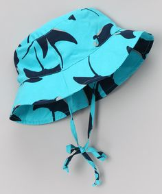 This colorful bucket hat has UPF rated protection, which makes it a great alternative to that sticky situation of smearing sunscreen all over scrunched up little faces. Baby Swimwear, Sun Hats, Sunscreen, Bucket Hat, Aqua, Take That, Babies, Play, Summer