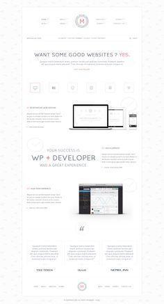Pure white clean web design - #web #design