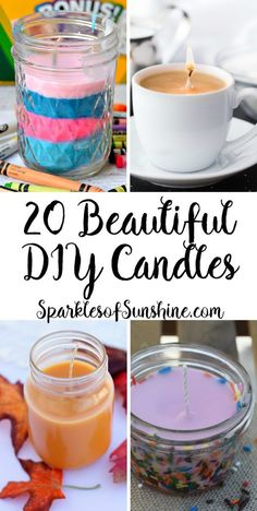 Looking for a fun new craft project? Check out these 20 beautiful DIY candles you can easily make yourself.