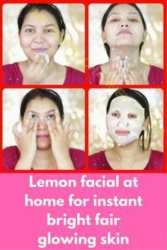 Lemon facial at home for instant bright fair glowing skin This facial is very beneficial to get rid of all skin problems. It will not only give you glowing skin instantly but will also remove all spots, blemishes and pigmentation from your skin This facial will complete in 4 steps. all details are given below Lemon Facial cleanser 1 teaspoon glycerin + 1 teaspoon lemon …