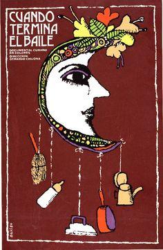 Cuban poster by Eduardo Muñoz Bachs, 1986, Cuando termina el baile.