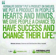 If you'd like to experience the Herbalife treatment yourself, just ask for a 3 Day Trial Pack