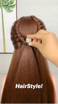Side Bun Hairstyles, Hairdos, Updos, Braided Hairstyles, Hairdo For Long Hair, Easy Hairstyles For Long Hair, Hair Up Styles, Girl Hair, Hair Videos