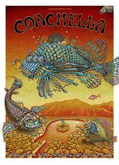 Emek's Coachella Poster (Plus his PangeaSeed Art Print) Onsale Info