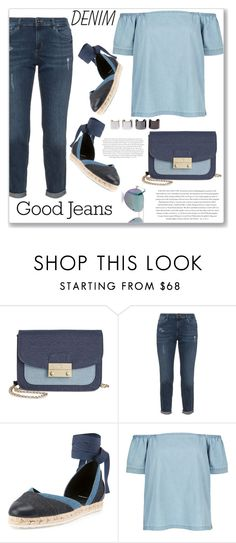 """""""Denim on Denim"""" by christinacastro830 ❤ liked on Polyvore featuring INC International Concepts, Pierre Hardy, Monsoon, Envi, Luv Aj, Cutler and Gross and Denimondenim"""