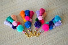 Hey, I found this really awesome Etsy listing at https://www.etsy.com/listing/485136635/pom-pom-keychain-pom-pom-bag-charm