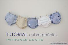 Tutorial de cubre pañales o braguitas de bebé (patrones gratis)