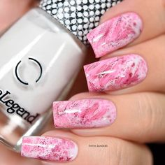 What manicure for what kind of nails? - My Nails Elegant Nail Designs, Pink Nail Designs, Elegant Nails, Fall Nail Designs, Marble Nail Art, White Nail Art, Pink Marble, Rose Nail Design, Pink Design