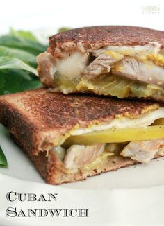 When you have leftover pork roast and deli ham in the fridge, you make a Cuban Sandwich with several pieces of cheese to make your mouth melt. - by Mama Maggie's Kitchen Leftover Pork Loin Recipes, Pork Roast Recipes, Pork Tenderloin Recipes, Leftovers Recipes, Dinner Recipes, Cuban Recipes, Leftover Pork Tenderloins, Cuban Pork Roast, Pasta Recipes