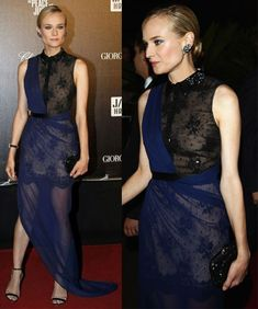 This look from Diane Kruger at 2012 Cannes is more fashion forward, but I think it's gorgeous on her.