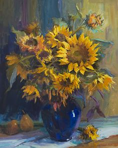 Variety in Sunflowers by Lange Marshall Oil ~ 30 x 24