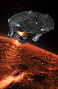 Red Horizon by MoRoom on DeviantArt Star Trek 1, Star Trek Ships, The Stars My Destination, Science Fiction, Star Trek Wallpaper, Star Trek Posters, Starfleet Ships, Space Artwork, Star Trek Images