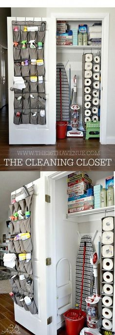 Best Organizing Ideas for the New Year - DIY Cleaning Closet Organization - Reso. - - Best Organizing Ideas for the New Year - DIY Cleaning Closet Organization - Resolutions for Getting Organized - DIY Organizing Projects for Home, Bedr. Organisation Hacks, Diy Organization, Organizing Ideas, Storage Hacks, Organising, Toy Storage, Hall Closet Organization, Organization Ideas For The Home, Organizing Shoes