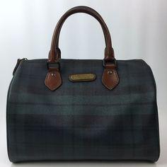 Vintage Ralph Lauren Green Tartan Plaid Satchel Speedy Handbag Purse   PoloRalphLauren  Satchel d0859c71d81e1