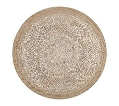 Border Round Jute Rug, Round, Sand At Pottery Barn - Rugs & Windows - Natural Fiber Rugs