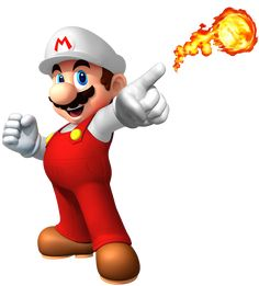 Flor de Fuego - Super Mario Wiki - La enciclopedia de Mario Super Mario World, New Super Mario Bros, Super Mario Art, Super Mario Birthday, Mario Birthday Party, Super Smash Bros, Mario Bros., Mario And Luigi, Mario Kart