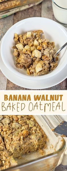 Bananas, walnuts, an