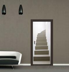 Turning Staircase Door Wallpaper Mural Wallpaper Mural at AllPosters.com