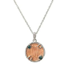 Give a little luck to your friends.  The LUCKY IRISH PENNY SILVER TONE CIRCLE PENDANT makes a great St. Patrick's Day gift! #coinjewelry
