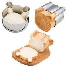 Japanese Loaf Pan Bread Mold - Cute Bear Shape ~ eeep! so cute, they'd love it!
