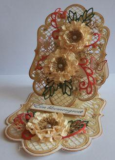 Card by Jolanda Elderman  (090412)  [Marianne Design (dies) Anja's Large Oval, Anja's Leaves 2, Circles, Frame Circle]