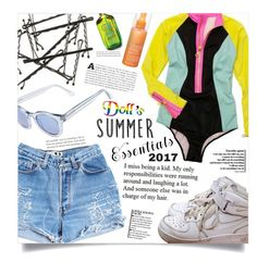 """SUMMER 2017"" by dolly-valkyrie ❤ liked on Polyvore featuring Levi's, NIKE, Fekkai, Sunday Somewhere and summer2017"