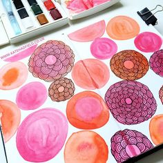 Sketchbook page by Kate Hadfield - inspired by Creative Bug's Sketchbook Explorations class