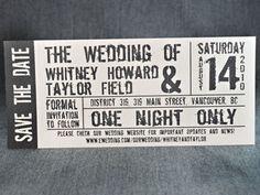movie themed wedding invitations - Google Search