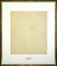 Rauschenberg's erased version of the square. Which I'd note is a rectangle.