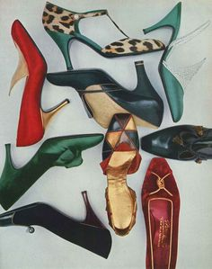 Vogue - October 1956 - Shoe Fashion - @~ Mlle.