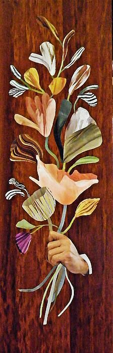 Flowers for Catherine - Sarah Loft #collage #flowers