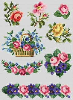 Most recent Free Cross Stitch flowers Thoughts Cross Stitch Rose, Cross Stitch Borders, Cross Stitch Flowers, Cross Stitch Charts, Cross Stitch Designs, Cross Stitching, Counted Cross Stitch Patterns, Embroidery Materials, Hand Embroidery Stitches