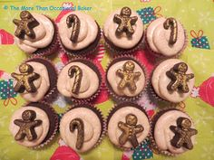 Gingerbread Cupcakes with Golden Syrup Cinnamon Cream Cheese Frosting from @bakingaddict for December's #TheSpiceTrail