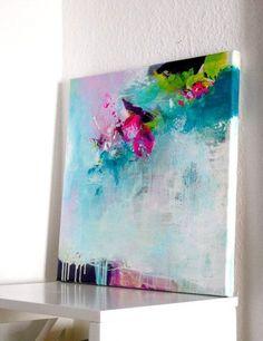 Original abstract painting modern work of art by ARTbyKirsten #abstractart