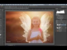 How to overlay fairy wings in Photoshop - YouTube