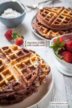 Chocolate Waffles. Recipe and Photograph by Irvin Lin of Eat the Love. www.eatthelove.com