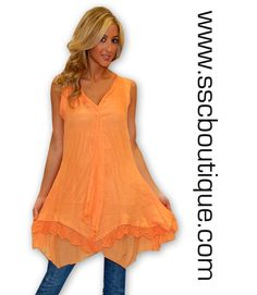 Sewwww Fab! Tangerine Sleeveless Top $49.50! S -XL! Get yours now!!! http://www.sscboutique.com/collections/new-arrivals/products/tangerine-sleeveless-top #urbanmango #tangerine #sleevelesstops #ootd