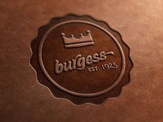 Dribbble - Burgess - Leather Stamp by James Fletcher
