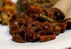 Ethiopian eggplant stew.