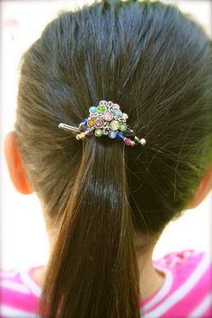 Mini flexi clip - Multi-Colored Stone Cluster www.LillaRose.biz/comfortablebeautifulhair