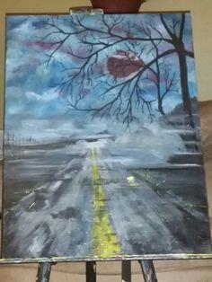 Haunted hwy 18 x 24 acrylic Paintings For Sale, Art, Kunst, Art Education, Artworks