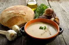 Recipe of the day: Porcini soup Czech Recipes, Ethnic Recipes, Soup Recipes, Healthy Recipes, Healthy Food, Mushroom Broth, Cream Style Corn, Baked Potato Soup, Salty Foods