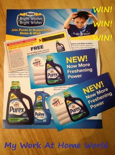 My Work At Home World: Purex & Make-A-Wish Bright Washes Bright Wishes! {GIVEAWAY!} ENDS 2/18