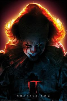 Buy It Chapter Maxi Poster - Pennywise online and save! It Chapter Maxi Poster – Pennywise This poster delivers a sharp, clean image and vibrant colours. This poster is printed on high quality paper. Clown Pennywise, Pennywise Poster, Pennywise The Dancing Clown, Clown Horror, Arte Horror, Horror Art, Horror Icons, Horror Movie Posters, Horror Films