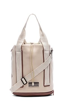 adidas by Stella McCartney Barricade Tennis Bag in White Vapour & Gunmetal