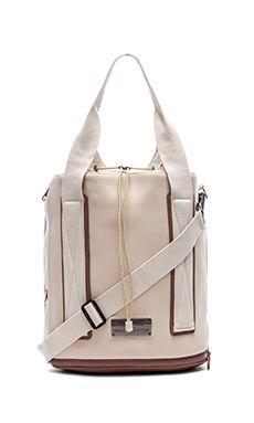 adidas by Stella McCartney Barricade Tennis Bag in White Vapour & Gunmetal