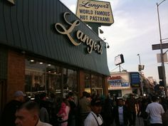 Langer's Delicatessen in Los Angeles is known for their pastrami sandwich (possibly the best in LA). Just watch out for lines.