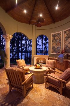 Wyatt Anderson outdoor living area