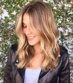 golden brown balayage hair