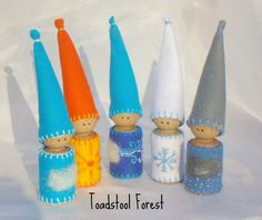 Meet the Weather Gnomes ~ Cloudy ~ Snowy ~ Windy ~ Sunny ~ and Rainy A great way to bring the outside weather inside to your nature table,